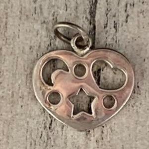 Heart Astrology Sterling Silver Jewelry Charm